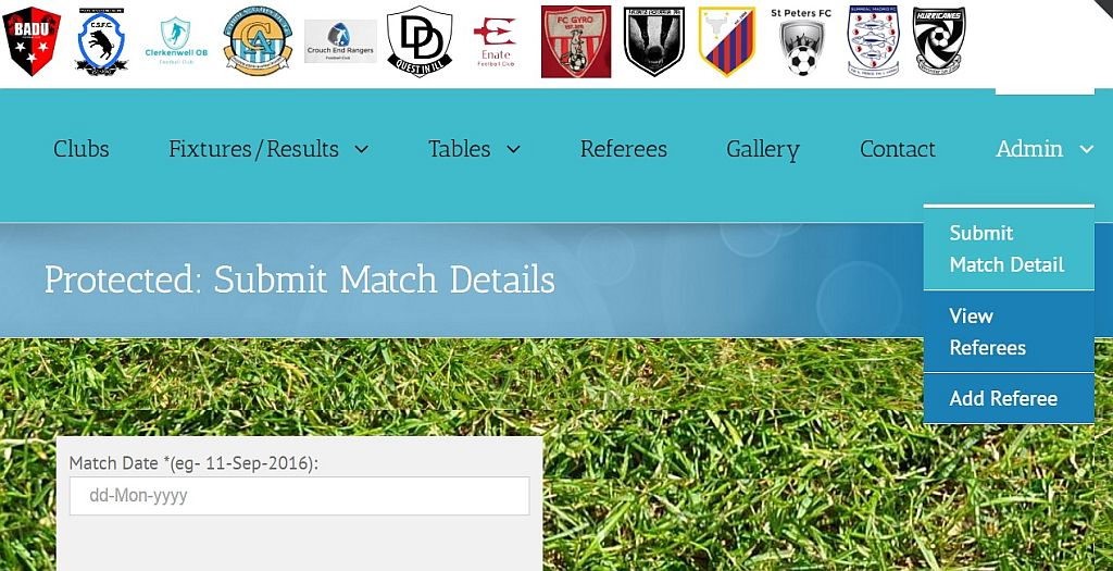 New 'Submit Match Results' feature available to Club Secretaries