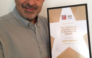Harry Yennaris - London FA Award for Contribution to Refereeing 2017