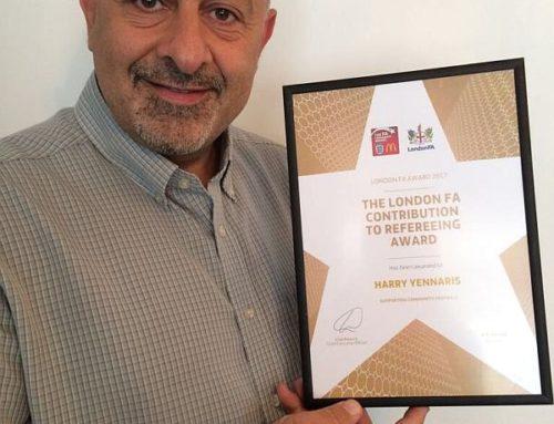 CSFL Chairman wins London FA Award